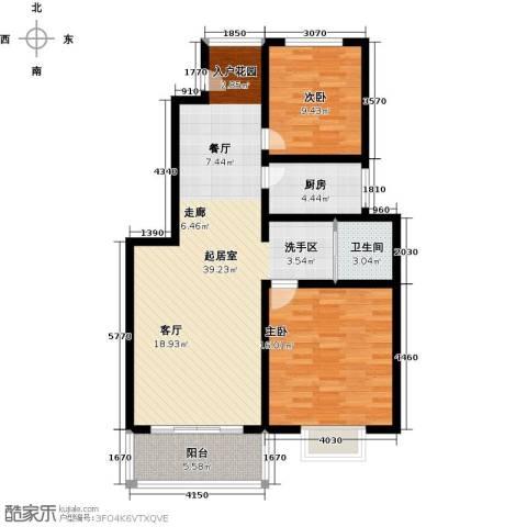 怡和新天地2室0厅1卫1厨89.00㎡户型图