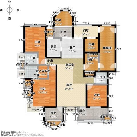 中豪东湖一品3室0厅3卫1厨170.00㎡户型图