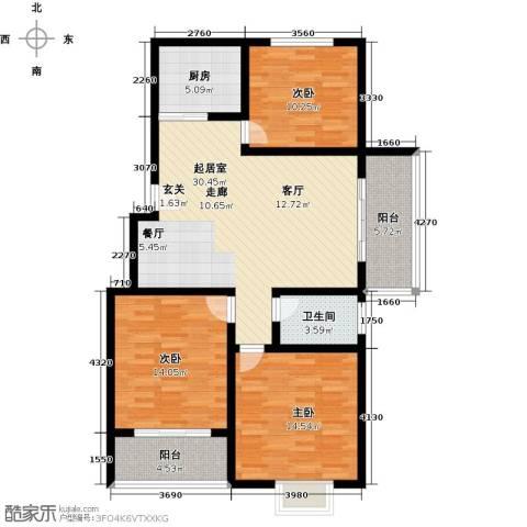 怡和新天地3室0厅1卫1厨102.00㎡户型图