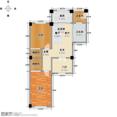 聚隆城尚城2室0厅1卫1厨97.00㎡户型图