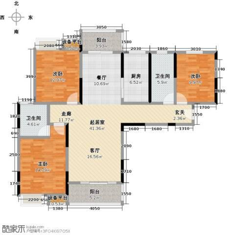新城壹号3室0厅2卫1厨150.00㎡户型图