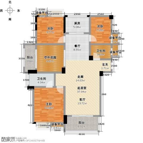 新城壹号3室0厅2卫1厨149.00㎡户型图