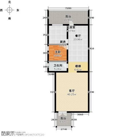 天乙海岸名都1室0厅1卫1厨131.00㎡户型图