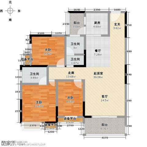 新城壹号3室0厅3卫1厨135.00㎡户型图