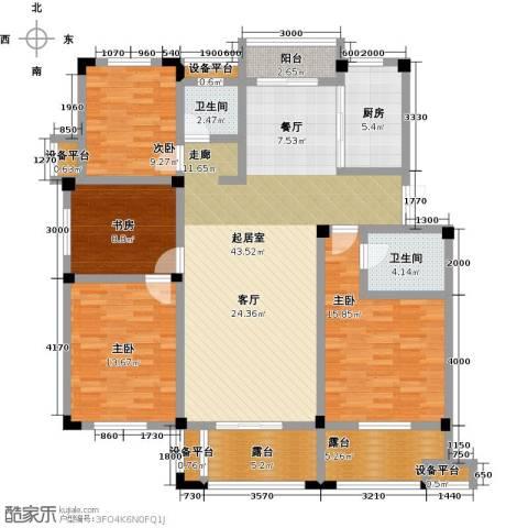 恒佳太阳城4室0厅2卫1厨132.00㎡户型图