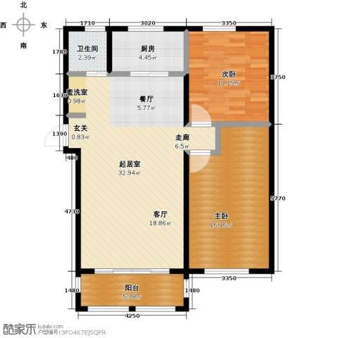 滨城美院2室0厅1卫1厨101.00㎡户型图