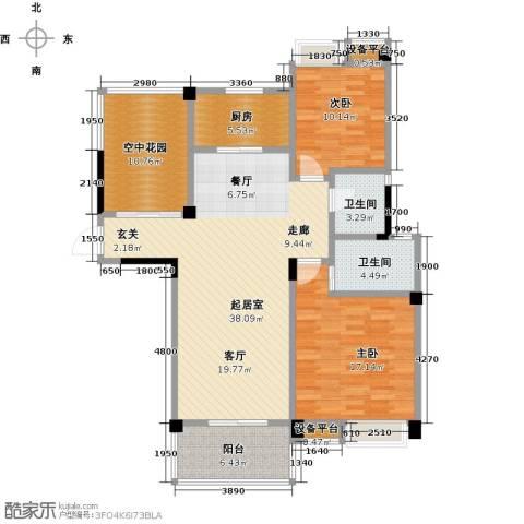 新城壹号2室0厅2卫1厨137.00㎡户型图