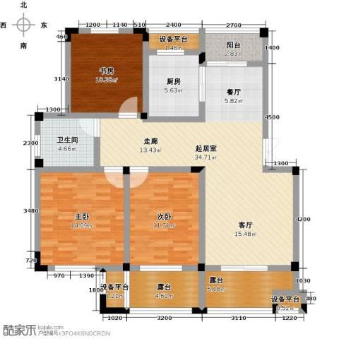 恒佳太阳城3室0厅1卫1厨105.00㎡户型图