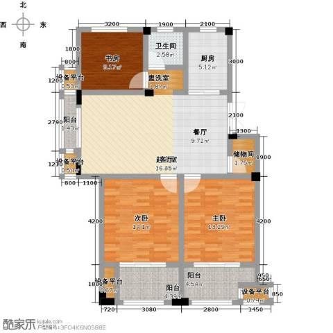 恒佳太阳城3室0厅1卫1厨94.00㎡户型图
