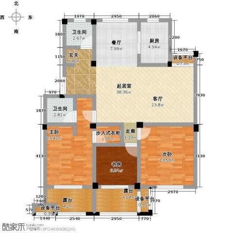 恒佳太阳城3室0厅2卫1厨112.00㎡户型图
