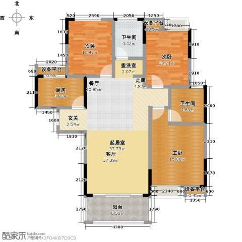 新城壹号3室0厅2卫1厨138.00㎡户型图
