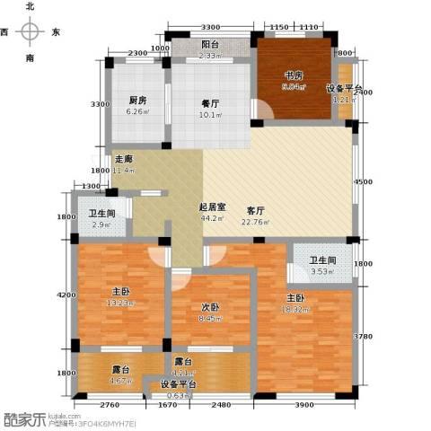 恒佳太阳城4室0厅2卫1厨137.00㎡户型图