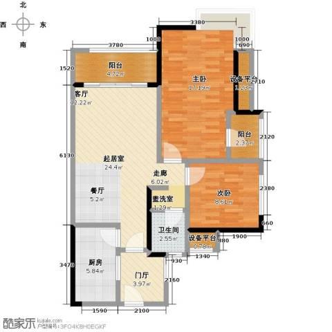 卓信金楠天街2室0厅1卫1厨103.00㎡户型图