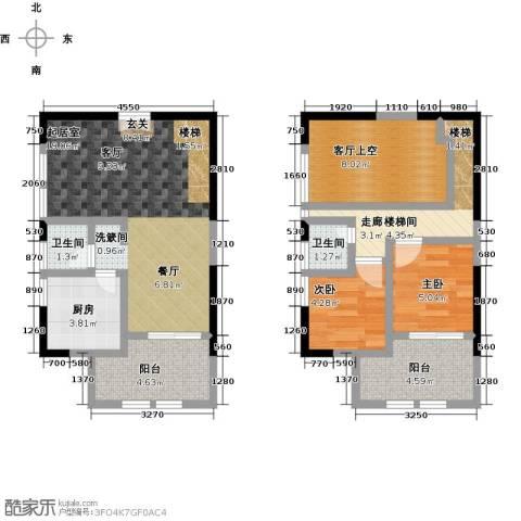 嘉龙尚都2室0厅2卫1厨84.00㎡户型图
