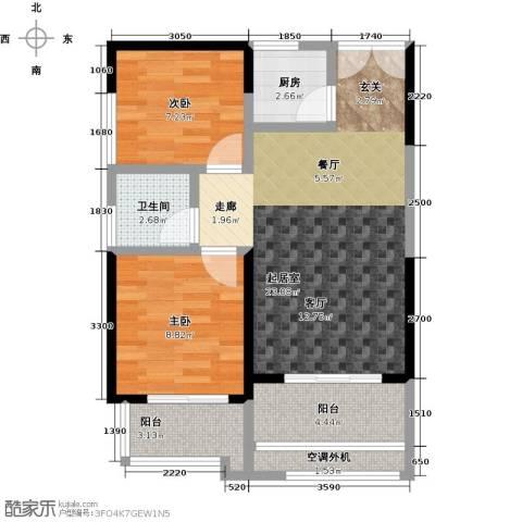 嘉龙尚都2室0厅1卫1厨78.00㎡户型图