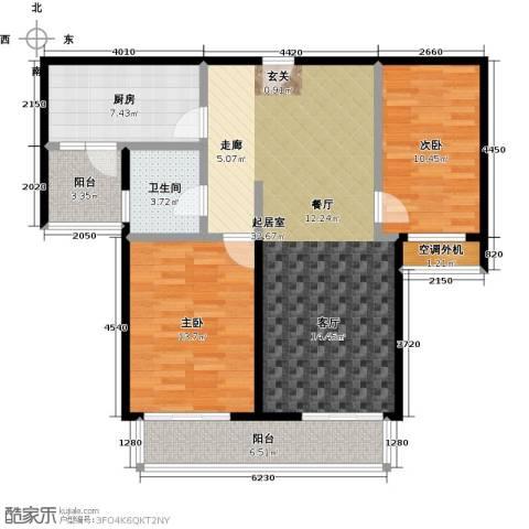 兰亭凤栖苑2室0厅1卫1厨112.00㎡户型图