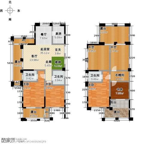 鸿地凰庭4室0厅3卫1厨200.00㎡户型图