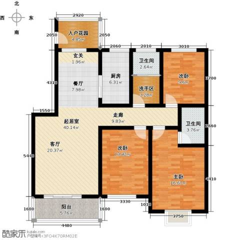 怡和新天地3室0厅2卫1厨123.00㎡户型图