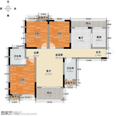 新城壹号3室0厅2卫1厨139.00㎡户型图