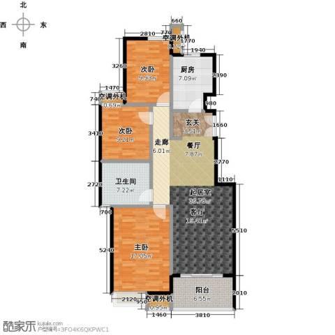 兰亭凤栖苑3室0厅1卫1厨136.00㎡户型图