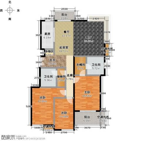 兰亭凤栖苑3室0厅2卫1厨177.00㎡户型图