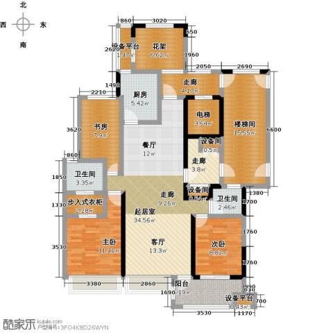 中豪东湖一品3室0厅2卫1厨141.00㎡户型图