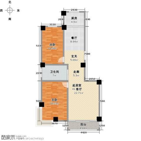 聚隆城尚城2室0厅1卫1厨134.00㎡户型图