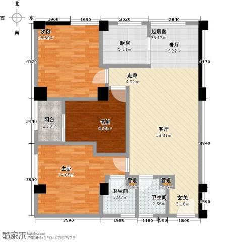 东山康城3室0厅2卫1厨97.00㎡户型图