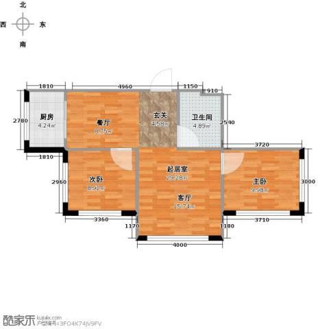 万象国际2室0厅1卫1厨79.00㎡户型图
