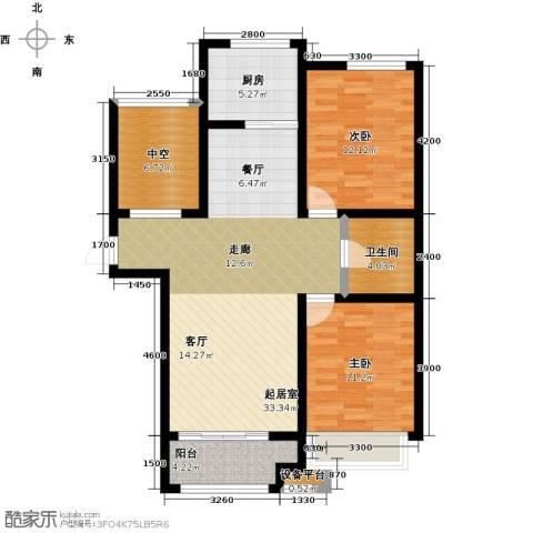 柠檬郡2室0厅1卫1厨112.00㎡户型图