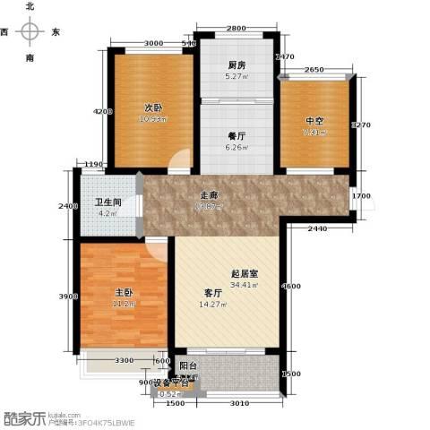 柠檬郡2室0厅1卫1厨113.00㎡户型图