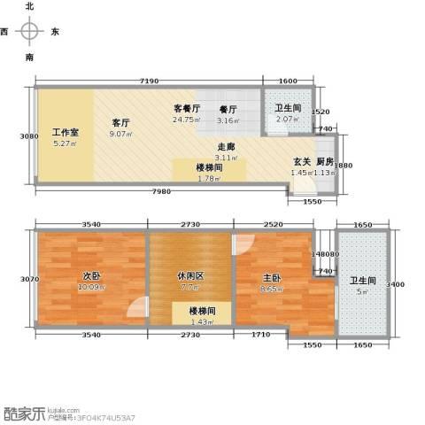 TOUCH悦城2室1厅2卫0厨63.00㎡户型图