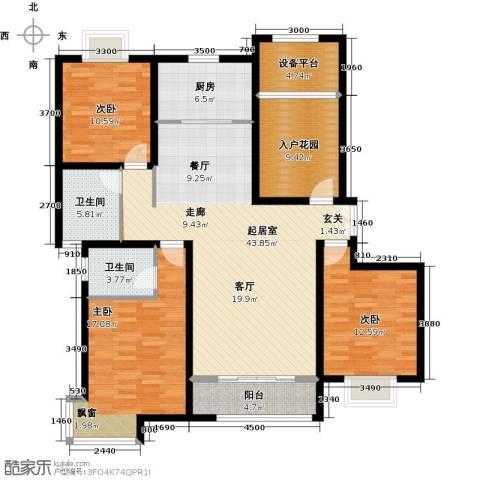 松石国际城3室0厅2卫1厨140.00㎡户型图