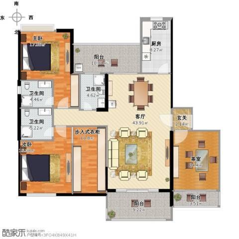 星星华园国际别墅2室1厅3卫1厨206.00㎡户型图