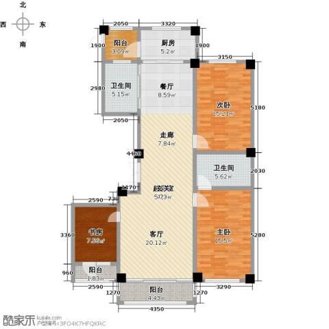 聚隆城尚城3室0厅2卫1厨155.00㎡户型图