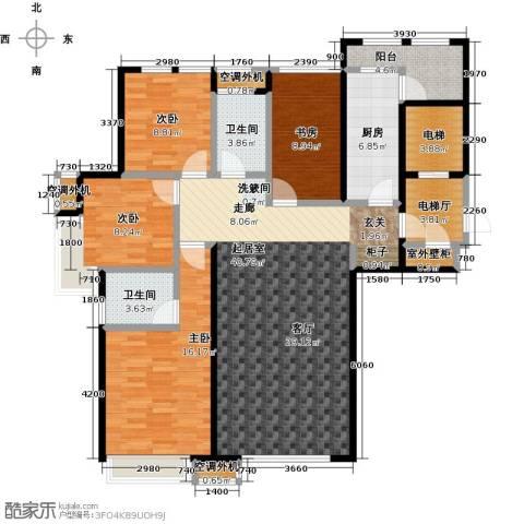 大海鑫庄国际4室0厅2卫1厨132.00㎡户型图