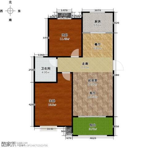 盛世景园2室0厅1卫1厨83.00㎡户型图