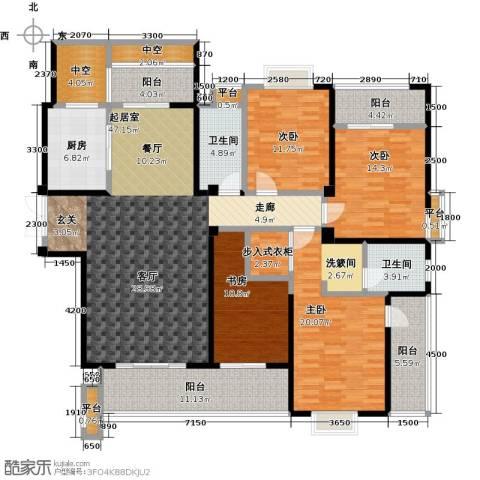 华府豪庭4室0厅2卫1厨188.00㎡户型图