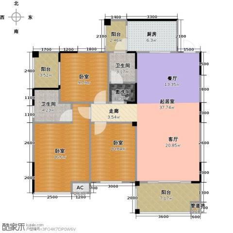 金印豪庭2卫1厨125.00㎡户型图