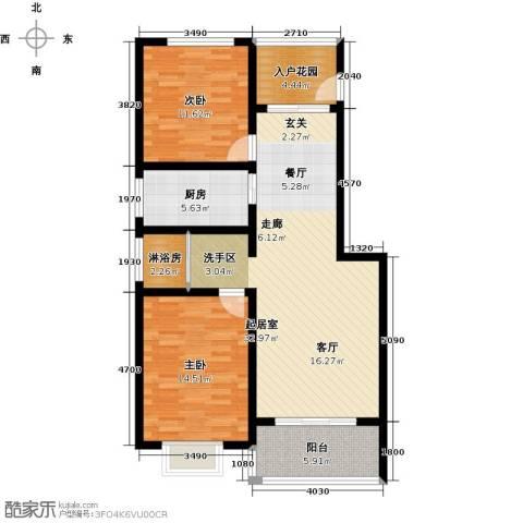 怡和新天地2室0厅0卫1厨89.00㎡户型图