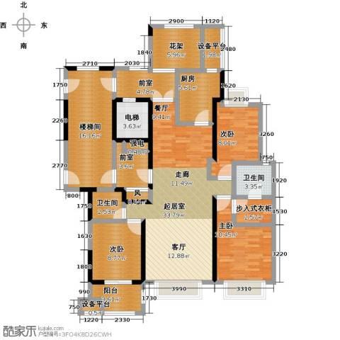 中豪东湖一品3室0厅2卫1厨174.00㎡户型图