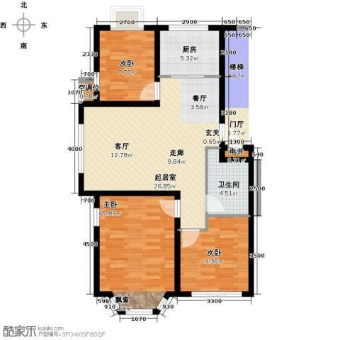 英伦花园3室0厅1卫1厨96.00㎡户型图
