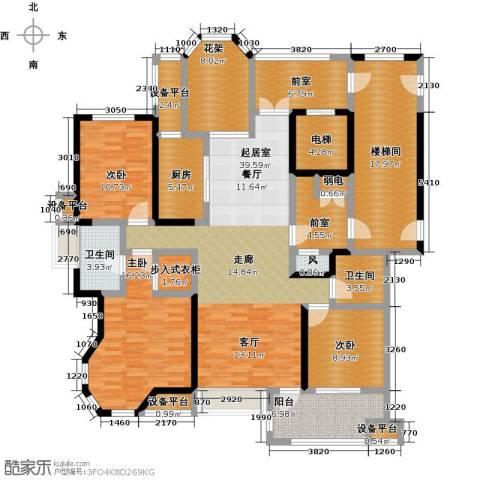 中豪东湖一品3室0厅2卫1厨171.00㎡户型图