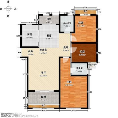 新新尚层3室0厅2卫1厨156.00㎡户型图