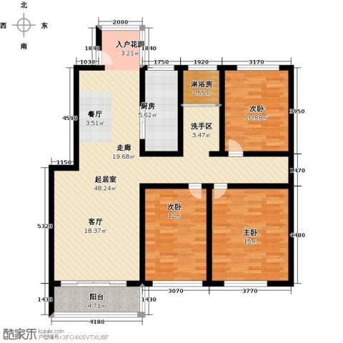 怡和新天地3室0厅0卫1厨114.00㎡户型图