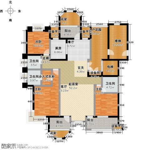 中豪东湖一品3室0厅3卫1厨169.33㎡户型图