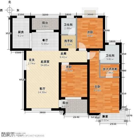 松石国际城3室0厅2卫1厨128.00㎡户型图