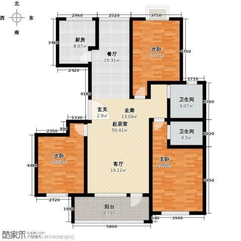 英伦花园3室0厅2卫1厨149.00㎡户型图