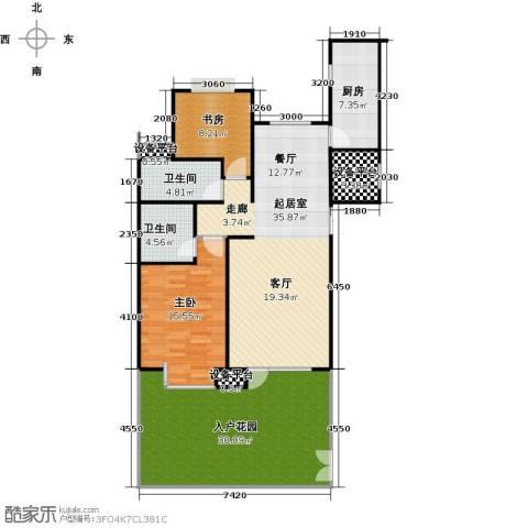 弘润金茂府2室0厅2卫1厨119.00㎡户型图