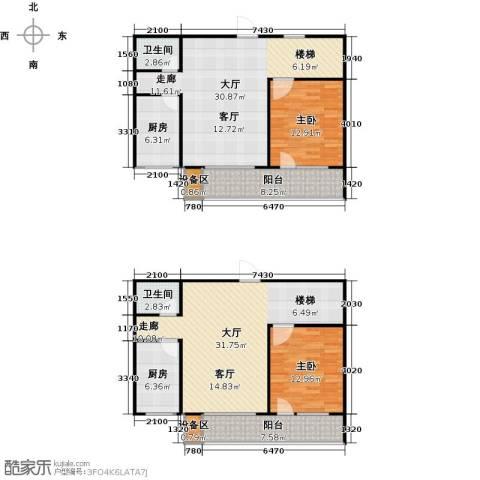 滨河雅园2室0厅2卫2厨142.00㎡户型图